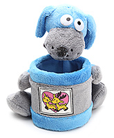 Pencil Holder With Soft Toy Blue
