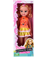 Buy Fab N Funky Musical Doll - Orange and Yellow