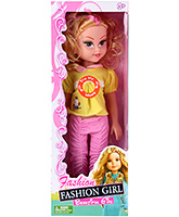 Buy Fab N Funky Musical Doll - Yellow and Pink
