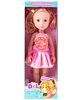 Buy Fab N Funky Musical Baby Doll - Orange and Pink