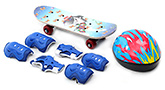 Fab N Funky Skating Set Butterfly and Shark Print - Blue