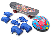 Fab N Funky Skating Set Danger Print - Blue