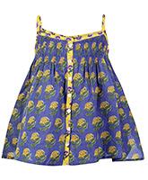 Buy Biba Girls Singlet Blue Printed Ethnic Top