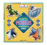 Creative's - Early Puzzles - 4 Shaped Puzzles Birds