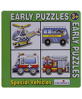 Creative's - Early Puzzles - 4 Shaped Pu... 2 1/2 Years+, A Set Of 4 Shaped Puzzles, Self - Corr...