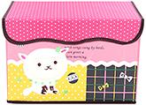 Buy Fab N Funky Cat Print Storage Box- Pink