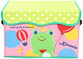 Buy Fab N Funky Kerorin Print Storage Box- Pink an Forestgreen