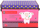Fab N Funky Storage Box- Pink and Purple