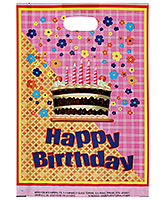 Buy Karmallys Printed Happy Birthday Bag- Pink and Yellow