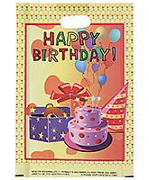 Buy Karmallys Printed Happy Birthday Bag- Light Yellow