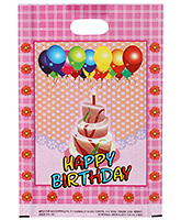 Buy Karmallys Printed Happy Birthday Bag- Pink