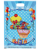 Buy Karmallys Printed Happy Birthday Bag- Dark Blue