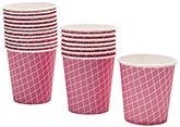 Karmallys Check Printed Pink Paper Cups - 210 ml