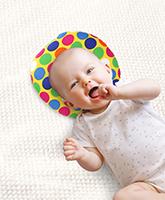 Buy Babyhug Baby Pillow Polka Dot Print - Yellow