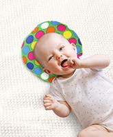 Buy Babyhug Baby Pillow Polka Dot Print - Green