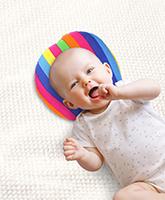 Buy Babyhug Baby Pillow Stripes Print - Multicolor