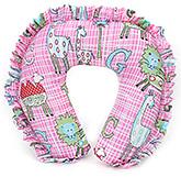 Buy Babyhug Frill Neck Protector Pillow Animal Print - Pink