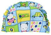 Buy Babyhug Semi Circular Baby Pillow Multi Print - Blue