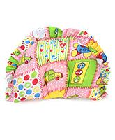 Buy Babyhug Semi Circular Baby Pillow Multi Print - Pink