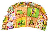Buy Babyhug Semi Circular Baby Pillow Multi Print - Orange