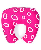 Buy Babyhug Baby Pillow with Neck Support Circle Print - Pink