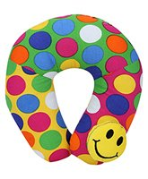 Buy Babyhug Neck Protector Pillow with Motif - Smiley
