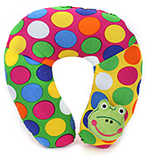 Buy Babyhug Neck Protector Pillow with Motif - Froggy