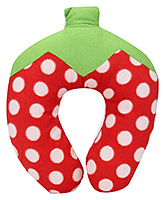 Buy Babyhug Strawberry Design Neck Protector Pillow - Red