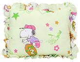 Babyhug Rectangular Cartoon Print Baby Pillow - Green
