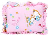 Buy Babyhug Rectangular Cartoon Print Baby Pillow - Pink