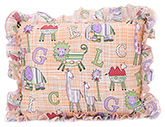Buy Babyhug Rectangular Animal Print Baby Pillow - Peach