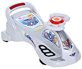 Buy Fab N Funky Manual Swing Car Sports Stlye - White