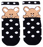 Mustang Ankle Length Bear Print Socks