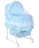 Buy Fab N Funky Baby Bassinet Heart Print - Blue