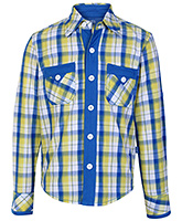 Dreamszone Full Sleeves Shirt Yellow and Blue - Check Print