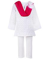 Buy Babyhug Full Sleeves Kurta and Churidar Set - Pink Dupatta