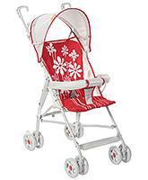 Fab N Funky Light Weight Stroller Flower Print - Red
