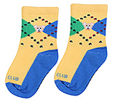 Buy Mustang Ankle Length Socks Yellow - Teddy Print