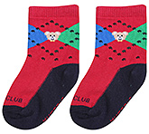 Buy Mustang Ankle Length Socks Red - Teddy Print
