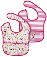 Honey Bunny Pink and White Baby Bibs- 2 Pieces