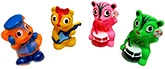 Marbles Squeeze Musical Squirrel Bath Toys - Set of 4