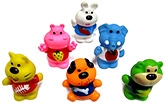 Buy Marbles Squeeze Cartoon Animals Bath Toys - Set of 6