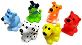 Buy Marbles Squeeze Dog Bath Toys - Set of 6