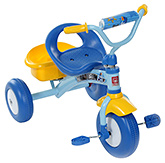 Fab N Funky Tricycle with Hello Baby Print Sticker - Blue