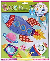 Fab N Funky Room Decor 3D Foam Rocket Stickers