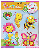Fab N Funky Room Decor 3D Foam Butterfly and Honeybee Stickers