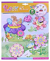 Buy Fab N Funky Room Decor 3D Foam Flower Stickers