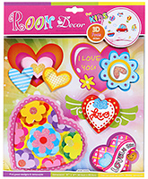 Buy Fab N Funky Muti Colour 3D Foam Decoration Stickers - Flowers And Shapes
