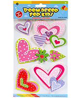 Fab N Funky  Handmade 3D Decoration Stickers - Heart Shapes