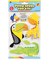 Buy Fab N Funky  Handmade 3D Decoration Stickers - Birdie N Girrafe